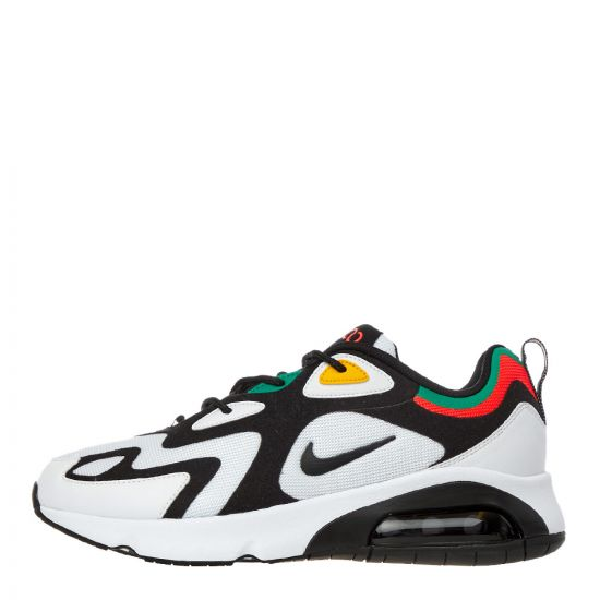 nike air max 200 trainers AQ2568 101 black / white