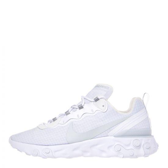 Nike React Element 55 Trainers BQ6167 101 White