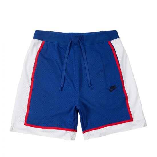 Nike Shorts Mesh   AR2418 438 Royal Blue / White