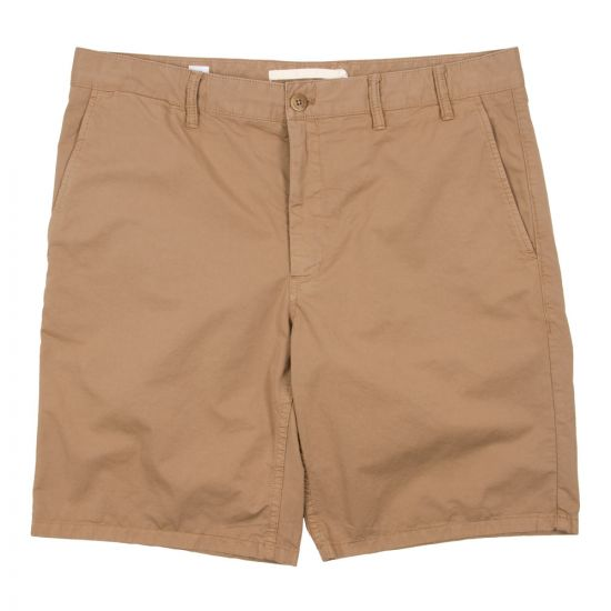 Norse Projects Aros Light Chino Shorts N35 0237 0966 in Khaki