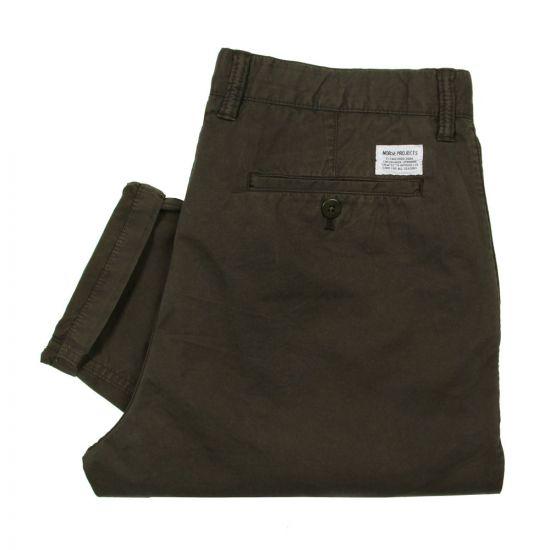 Aros Trousers - Rosin Green Light Twill