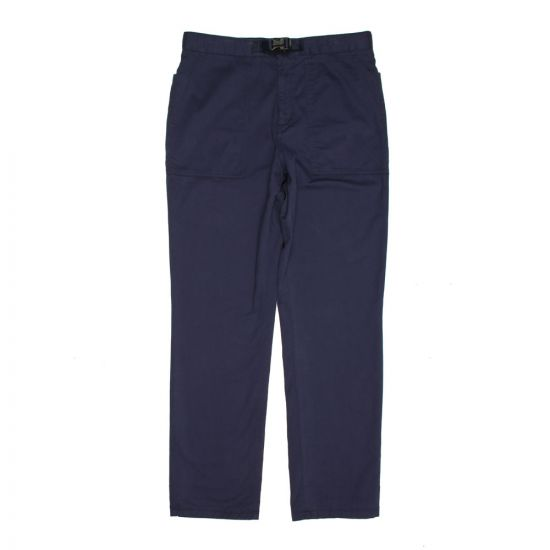 Norse Projects Laurtis Brushed Cargo Pants in Navy