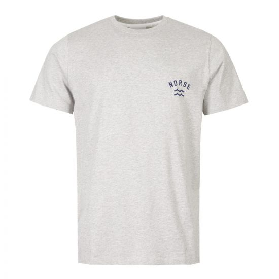 Norse Projects T-Shirt Niels Ivy Wave Logo N01 0465 1026 Grey