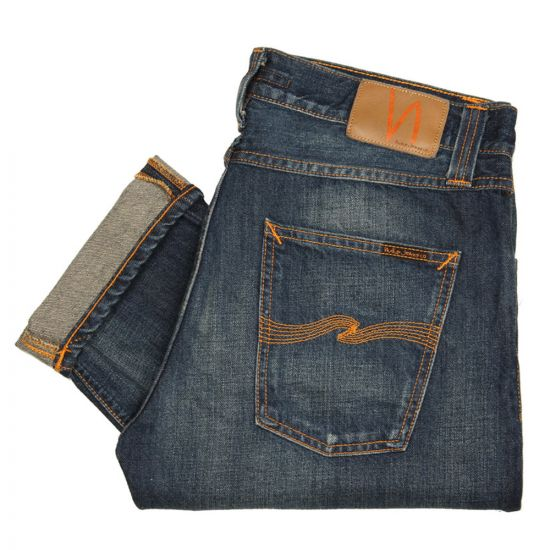 Nudie Jeans Steady Eddie Organic Whistle Blue 111568