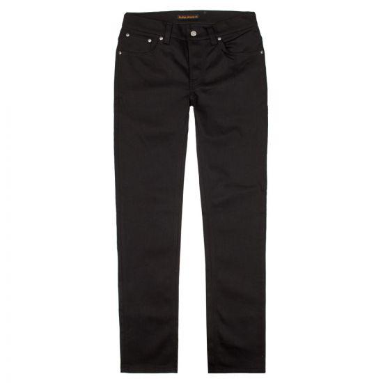 Nudie Jeans Grim Tim in Dry Cold Black 112302