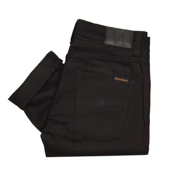 nudie grim tim organic jeans black 111239