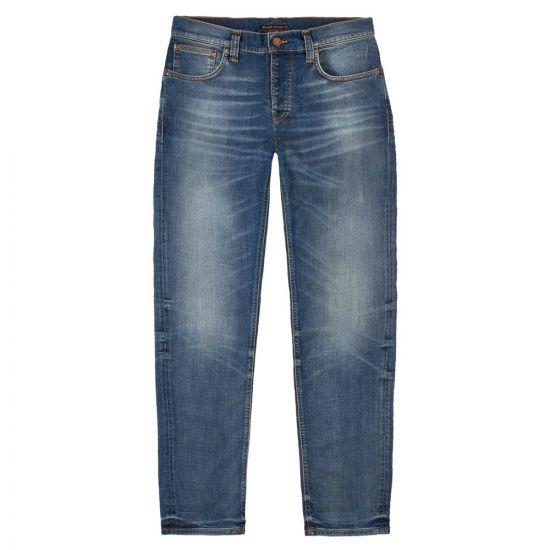 Nudie Jeans Grim Tim   113014 Worn In Broken Blue