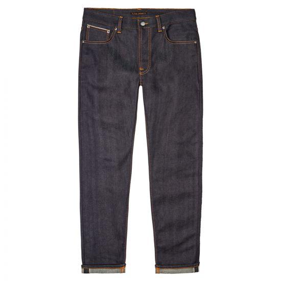 Nudie Jeans Lean Dean Dry 25 Dots 113359 Navy