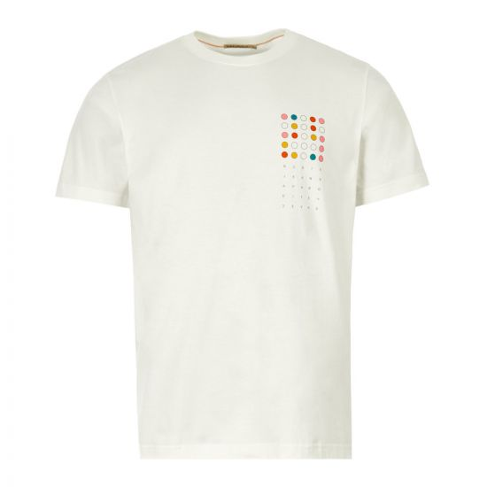 Nudie Jeans T-Shirt 25 Dots 131722 Off White