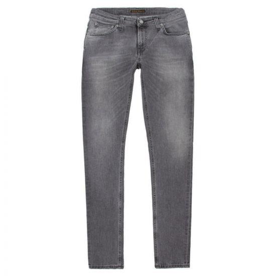 Nudie Jeans Skinny Lin Jeans Grey Wolf 112514