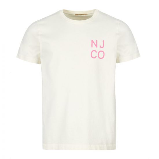 Nudie Jeans T-Shirt    131633 W41 DUSTY WHITE Off White