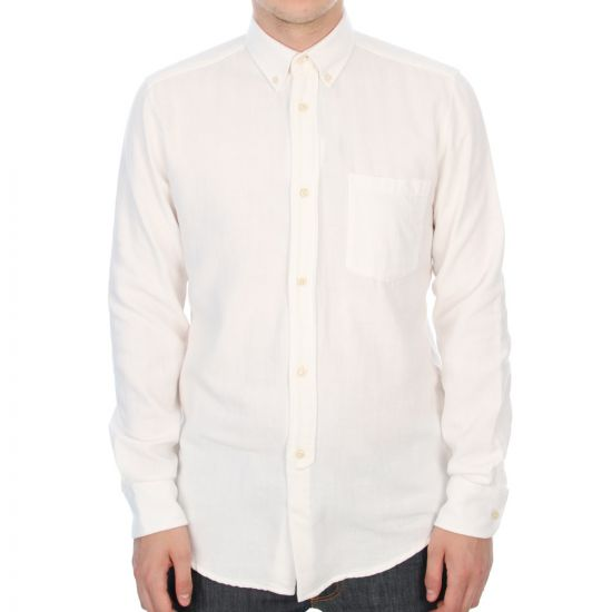 1940's Button Down Shirt - White Mussola
