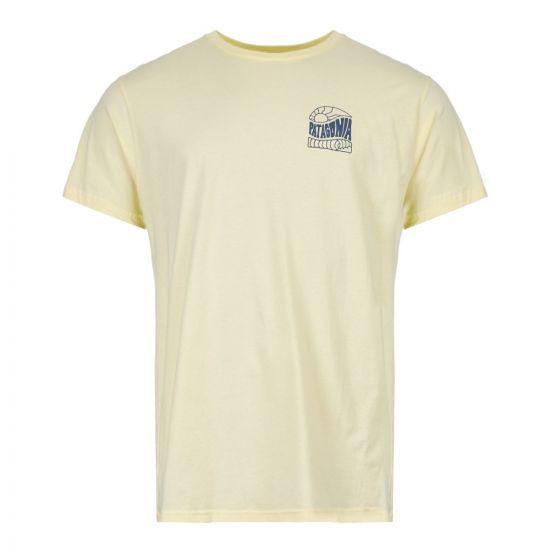 patagonia t-shirt cosmic peaks 38425 REYE pale yellow