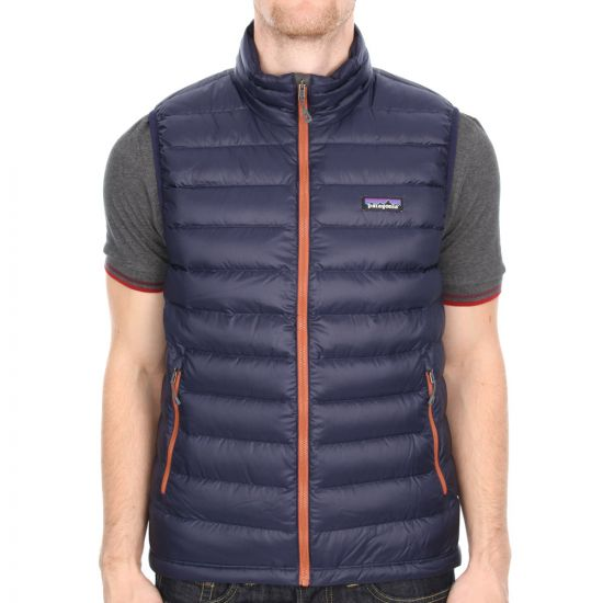 Patagonia Down Quilted Gilet in Navy