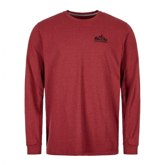 Patagonia Long Sleeve T-Shirt Fitz Roy Scope 38434 OXDR Oxide Red