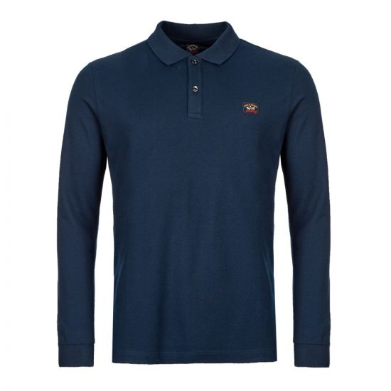 Paul & Shark Long Sleeve Polo Shirt | COP1001 013 Navy