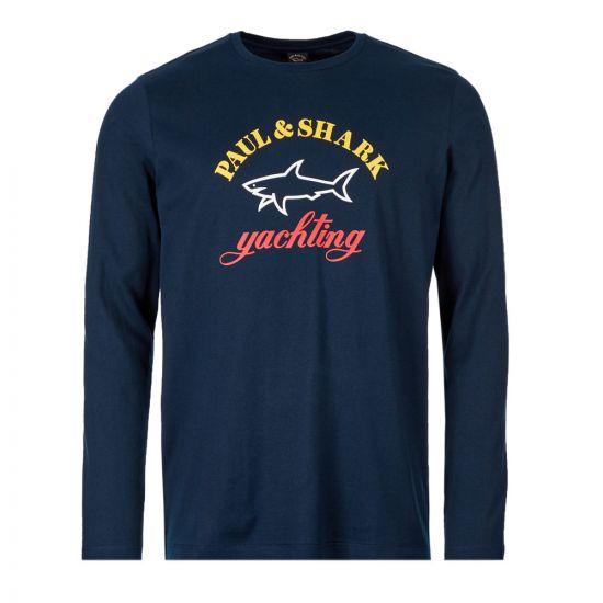 Paul & Shark Long Sleeve T-Shirt | A19P1683 013 Navy
