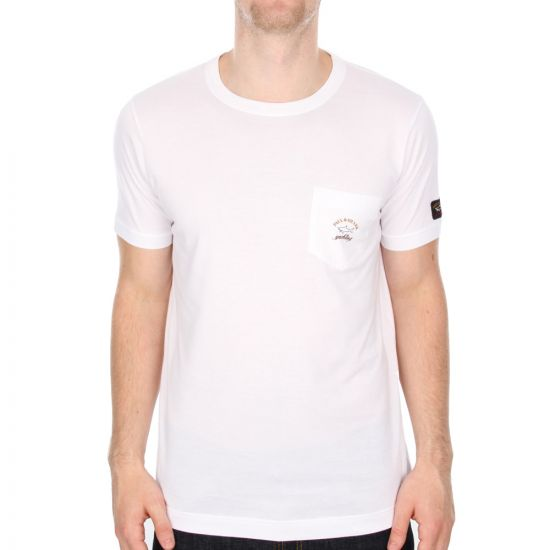 Paul And Shark Pocket Tee in White