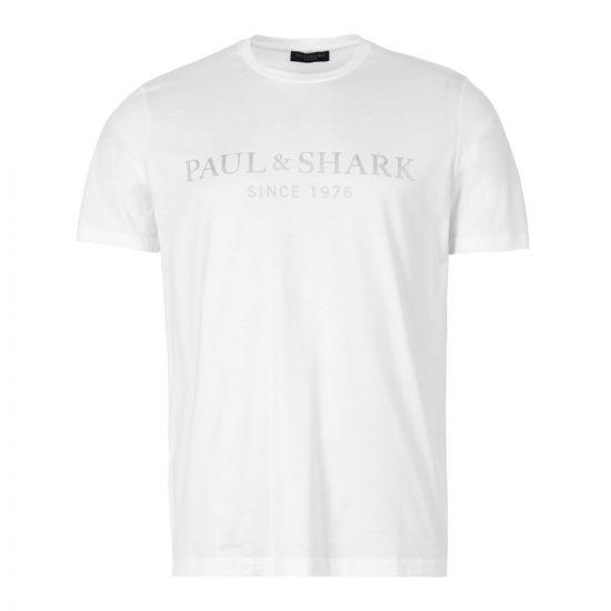 Paul & Shark T-Shirt   A19P1629 010 White