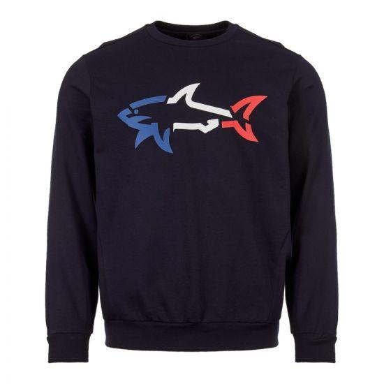 Paul & Shark Sweatshirt   P19P1940 013 Navy