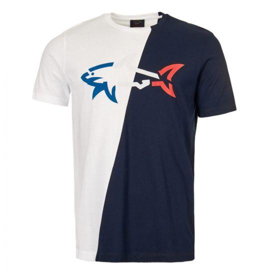 Paul & Shark T-Shirt   E19P1139 013 White / Navy