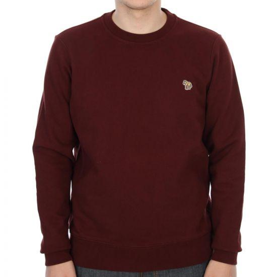 Paul Smith Sweatshirt Damson W/ Zebra Logo 162P/B49Z