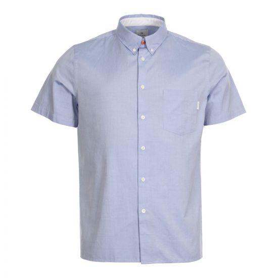 Paul Smith Short Sleeve Shirt M2R 417R A20041 44 In Light Blue