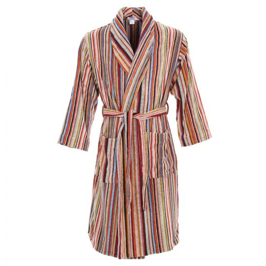 Paul Smith Signature Stripe Towelling Dressing Gown in Multi