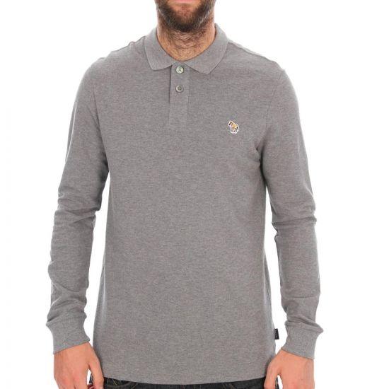 paul smith long sleeve polo grey 15l/353z