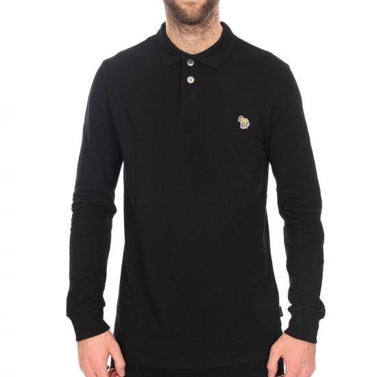 paul smith long sleeve polo black 115l/355