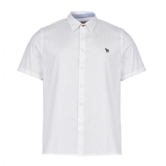 paul smith short sleeve shirt zebra badge M2R 524TZ C20041 01 white