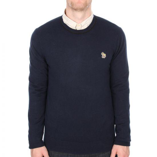Paul Smith Jeans Zebra Logo Sweatshirt in Navy