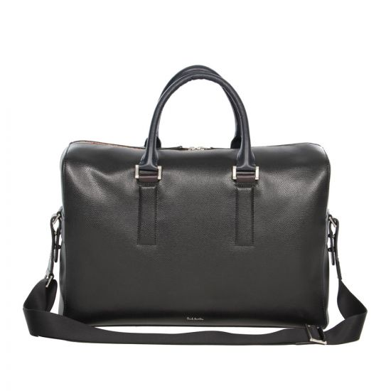 Paul Smith Accessories Black Leather Holdall