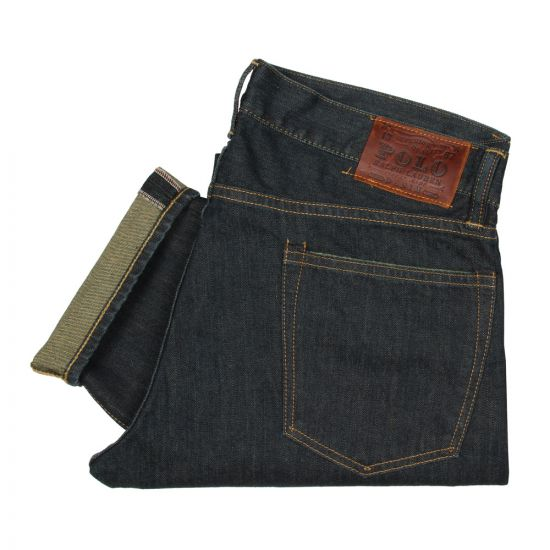 Slim Fitting Jeans - Navy