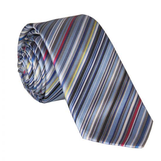Paul Smith Tie - Sky Blue Multi Striped 765L/X62