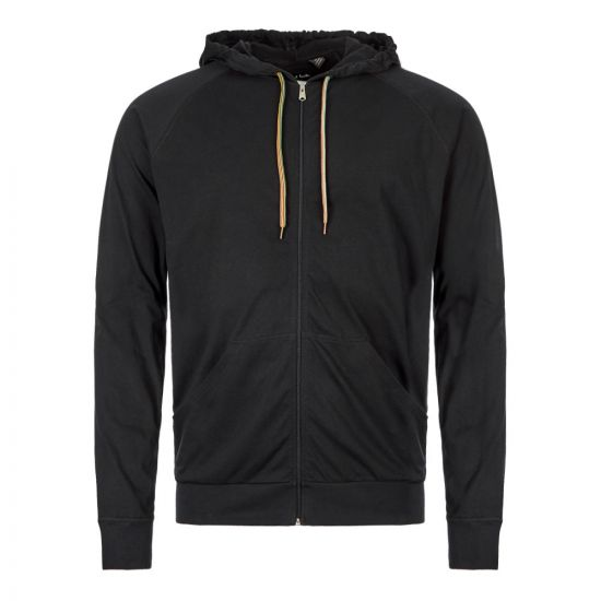 Paul Smith Zipped Hoodie M!A|500D|AU279|79 In Black At Aphrodite Clothing