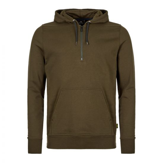 Paul Smith Half Zip Hoodie M2R|137T|A20616|35 In Green At Aphrodite1994
