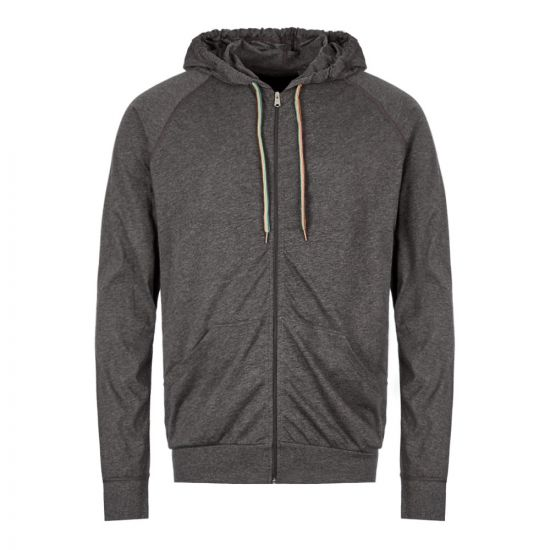 Paul Smith Zipped Hoodie M1A 500D AU279 76 In Slate Grey At Aphrodite Clothing
