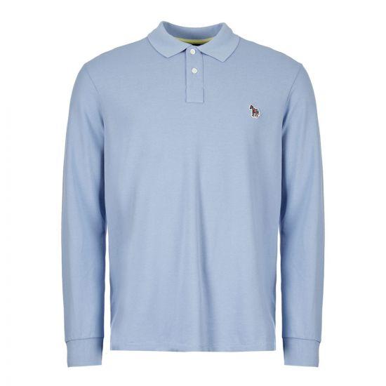 Paul Smith Long Sleeve Polo Shirt   M2R 115LZ C20067 44 Blue