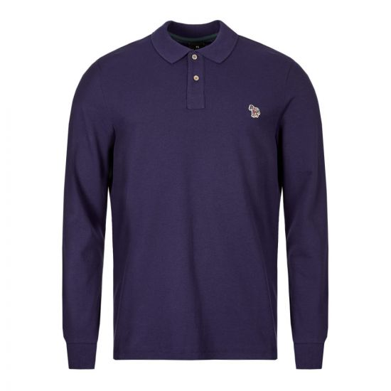 Paul Smith Long Sleeve Polo Shirt M2R 115LZ C20067 59 Violet / Purple