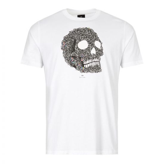 Paul Smith T-Shirt Skull M2R 011R AP1535 01 White