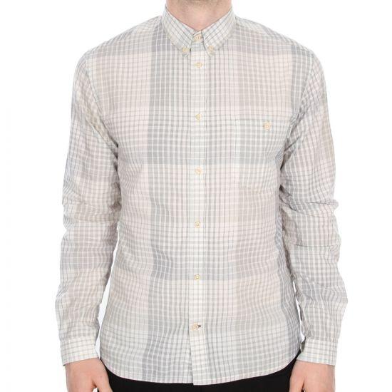 Paul Smith Jeans Khaki Checked Shirt