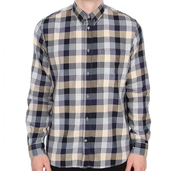Paul Smith Jeans Navy Check Shirt