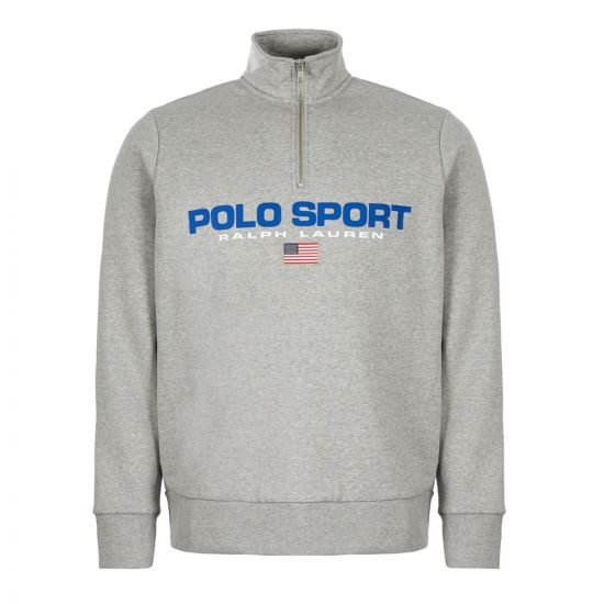 ralph lauren sweatshirt half-zip 710750456 005 grey