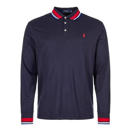 Ralph Lauren Custom Slim Fit Long Sleeve Polo 710719911 004 Navy