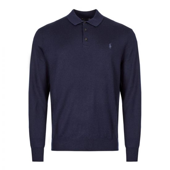 Ralph Lauren Knitted Polo 710716489 001 Navy
