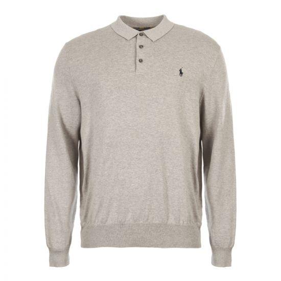 ralph lauren polo shirt long sleeve knitted 710744678 002 grey