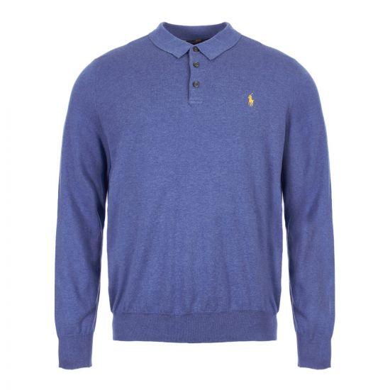 ralph lauren polo shirt long sleeve 710744678 003 blue