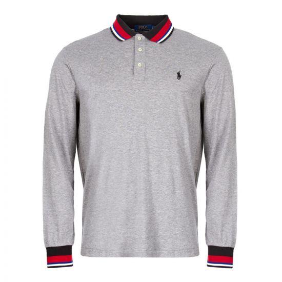 Ralph Lauren Custom Slim Fit Long Sleeve Polo 710719911 005 Grey