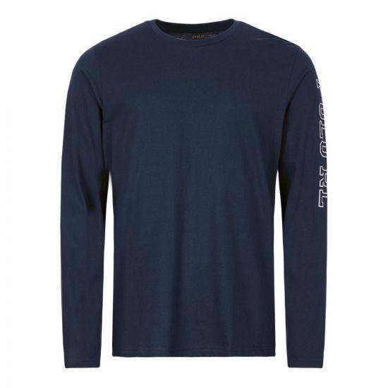 Ralph Lauren Long Sleeve T-Shirt 714757467 004 Navy